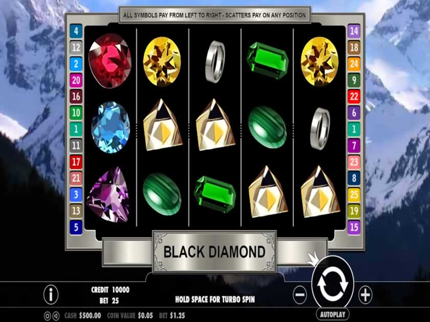 black diamond 25 lines screen