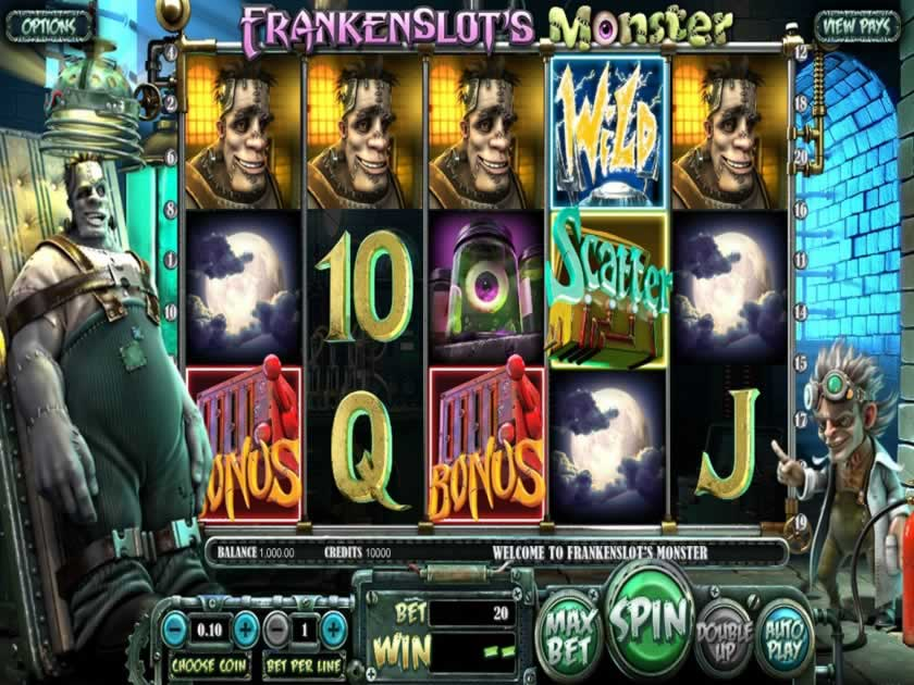 frankenslots monster screen