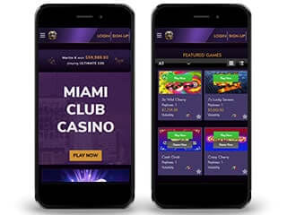 miami club mobile screenshot