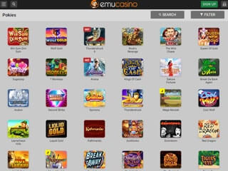Emu Casino tablet screenshot