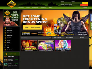 GDay casino screenshot desktop