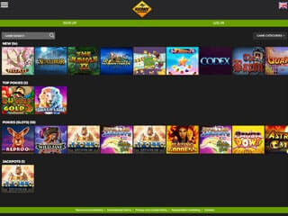 GDay casino screenshot tablet