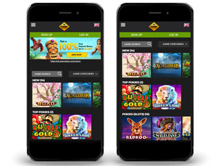 GDay casino screenshot mobile
