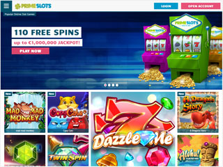 PrimeSlots casino screenshot desktop