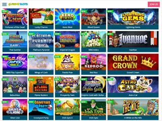 PrimeSlots casino screenshot tablet