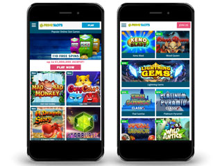 PrimeSlots casino screenshot mobile