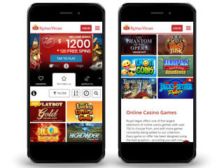 Royal Vegas Casino Mobile Screenshot