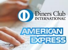 Diners Card and American Express logos