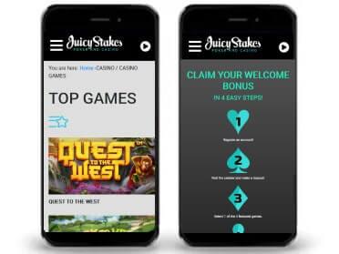 JuicyStakes Screenshot mobile