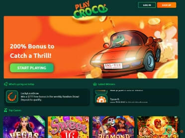 PlayCroco website screenshot