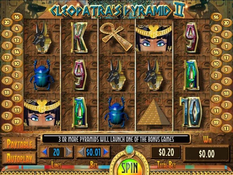 screenshot Cleopatras Pyramid II Slot Game